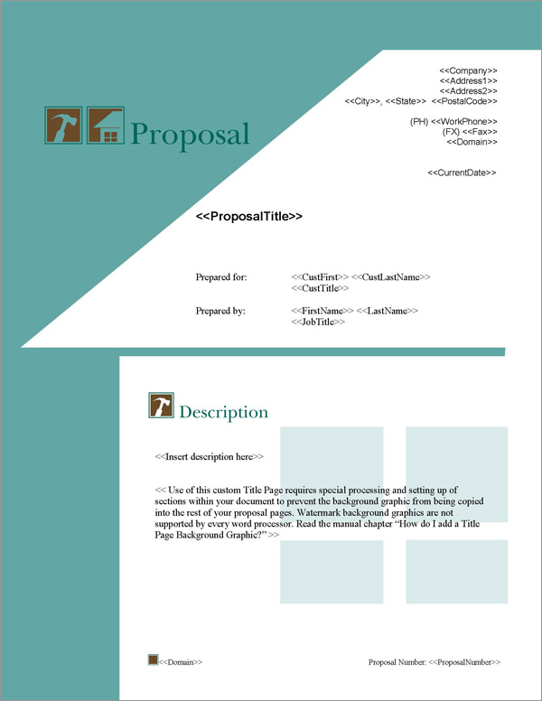 Proposal Pack Roofing #1 - Software, Templates, Samples