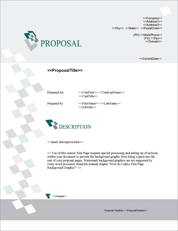 Proposal Pack Business #16 Title Page