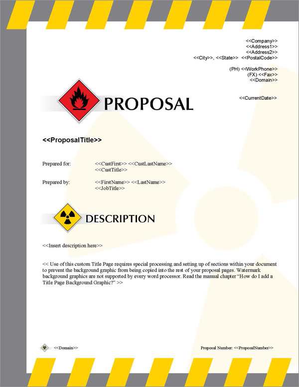 Proposal Pack Transportation #2 Title Page