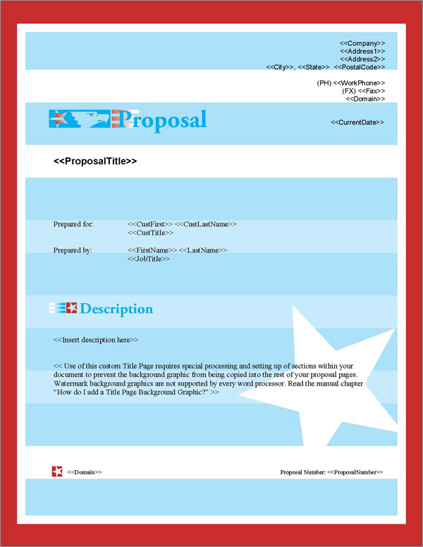 Proposal Pack Flag #4 Title Page