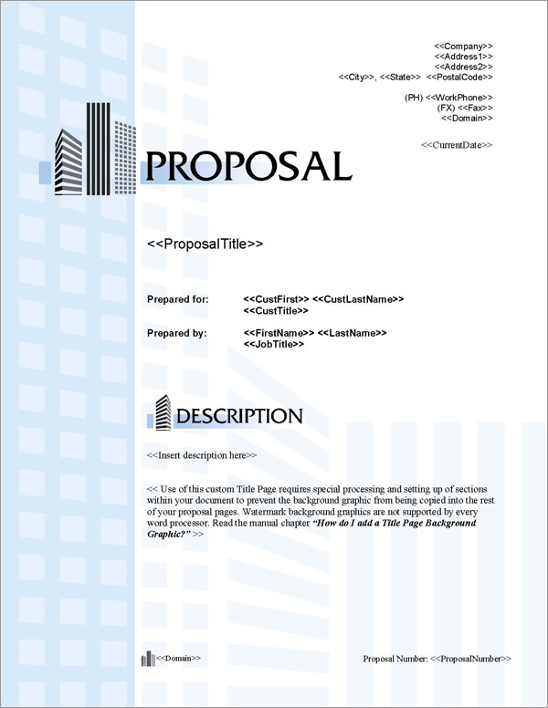 Proposal Pack Skyline #2 Title Page