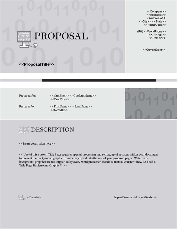 Proposal Pack Computers #4 Title Page