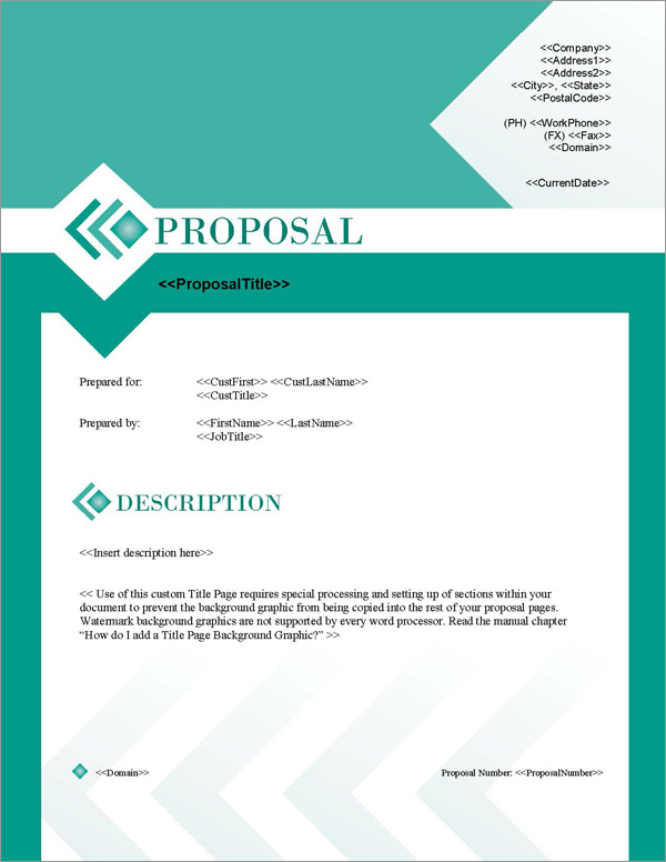 Proposal Pack Business #17 Title Page