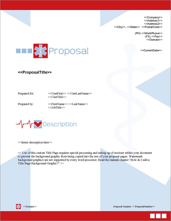 Proposal Pack Medical #5 Title Page