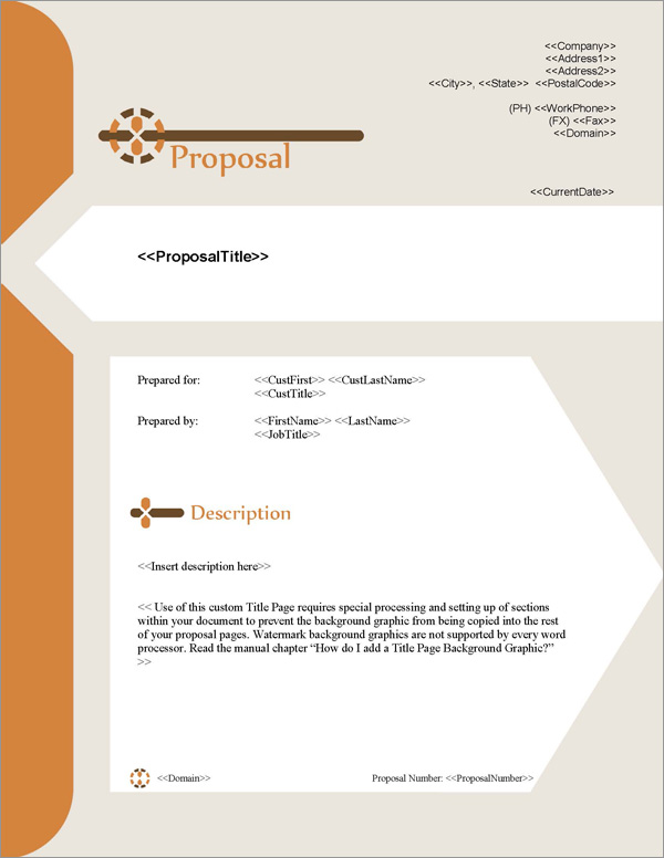 Proposal Pack Contemporary #14 Title Page