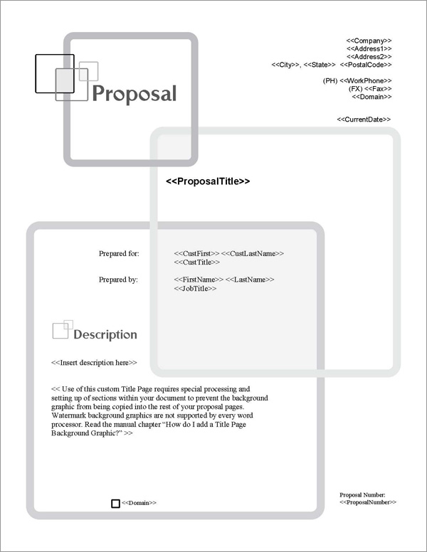Proposal Pack Classic #13 Title Page