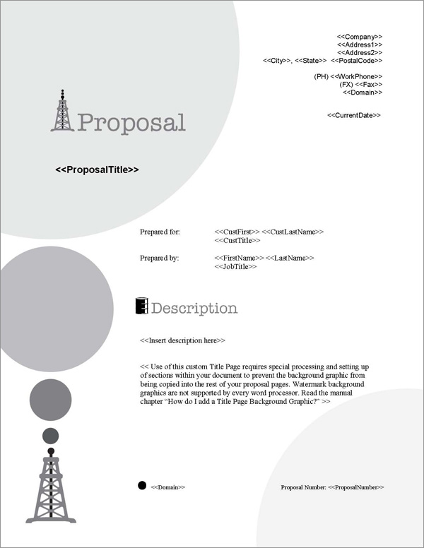 Proposal Pack Energy #8 Title Page