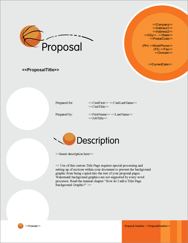 Proposal Pack Sports #5 Title Page
