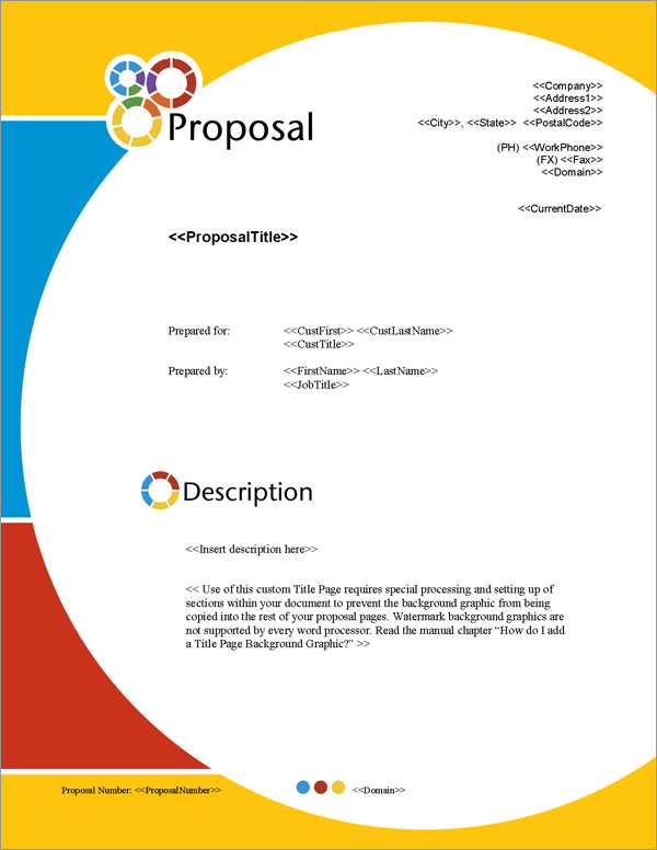 Proposal Pack Artsy #5 Title Page