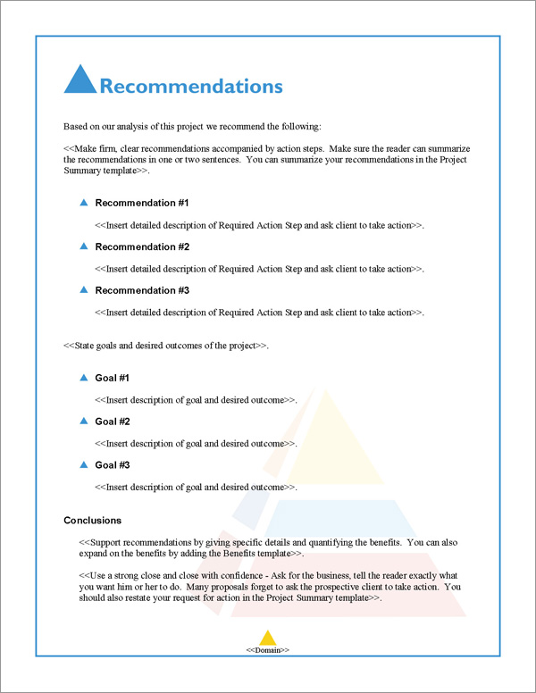 Proposal Pack Artsy #6 Recommendations Page