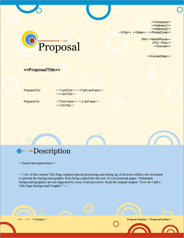Proposal Pack Artsy #7 Title Page
