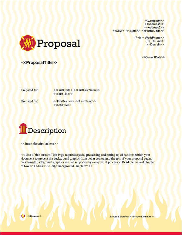Proposal Pack Safety #2 Title Page