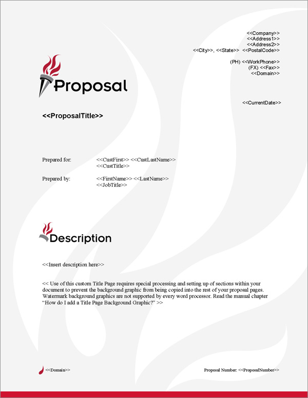Proposal Pack Concepts #12 Title Page