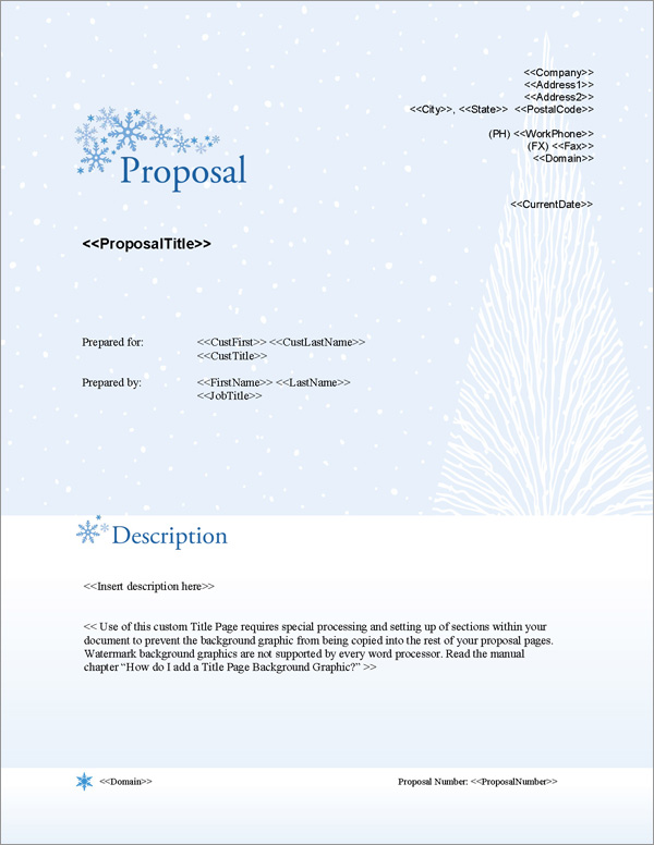 Proposal Pack Outdoors #3 Title Page