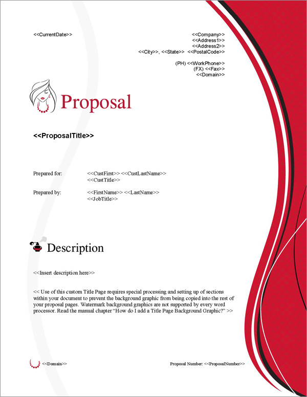 Proposal Pack Fashion #3 Title Page