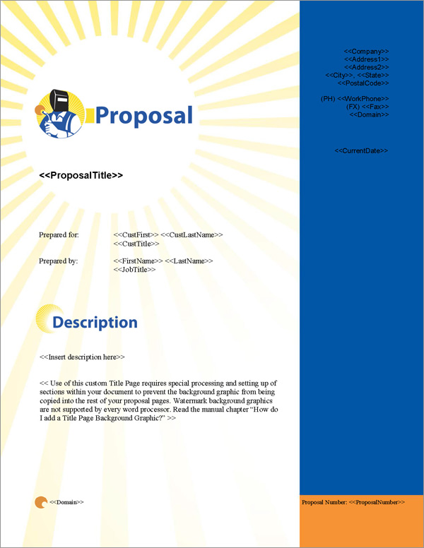 Proposal Pack Industrial #2 Title Page