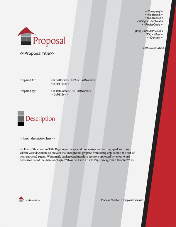 Proposal Pack Architecture #1 Title Page