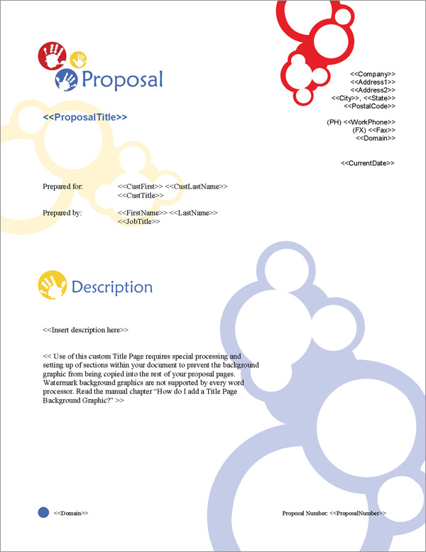 Proposal Pack Children #2 Title Page