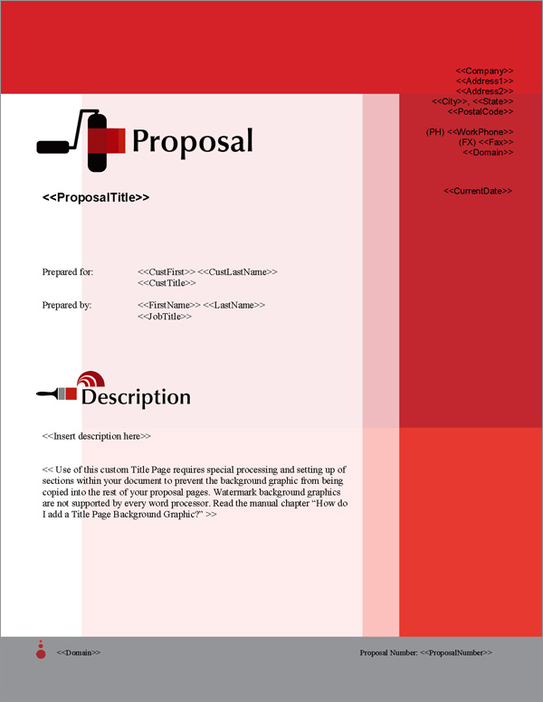 Proposal Pack Painter #2 Title Page