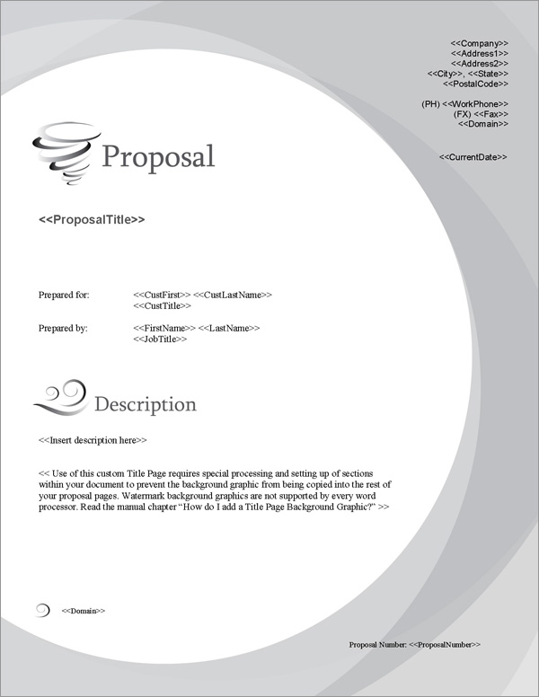 Proposal Pack Concepts #13 Title Page