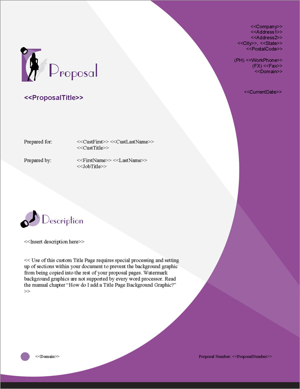 Proposal Pack Fashion #4 Title Page