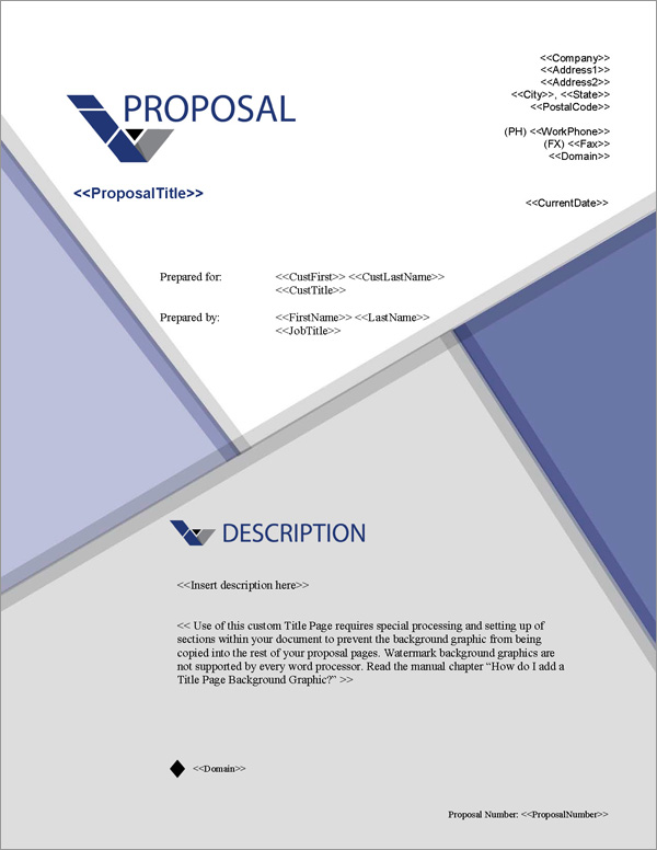 Proposal Pack Business #19 Title Page