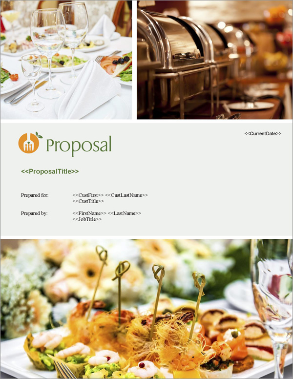 Proposal Pack Catering #1 Title Page