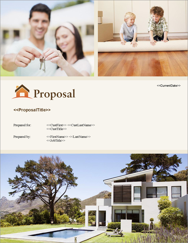 Proposal Pack Real Estate #5 Title Page