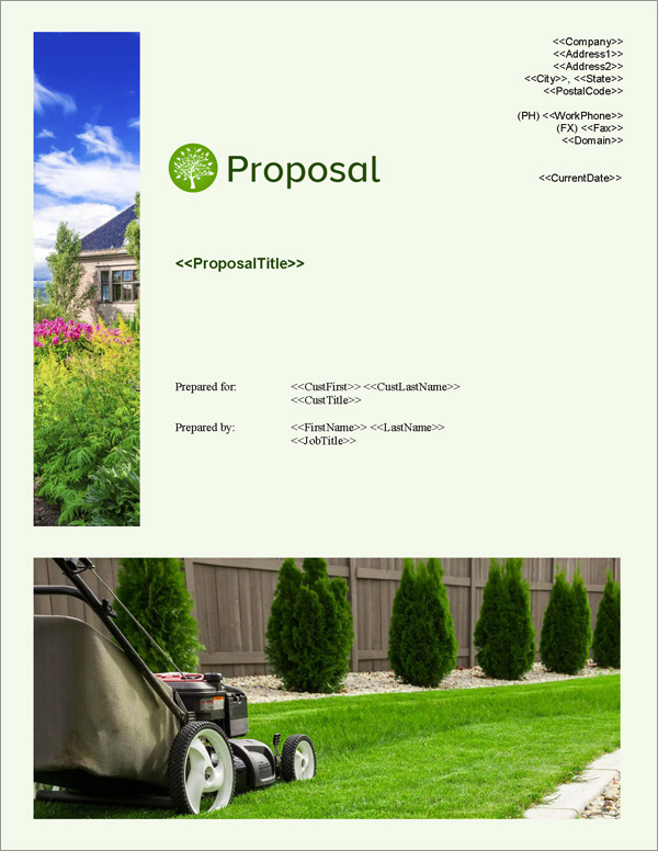 Proposal Pack Lawn #3 Title Page