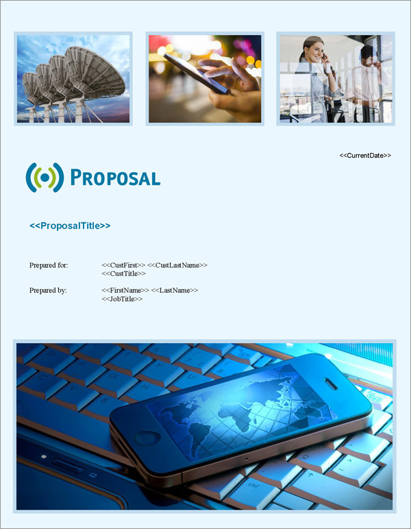 Proposal Pack Telecom #3 Title Page