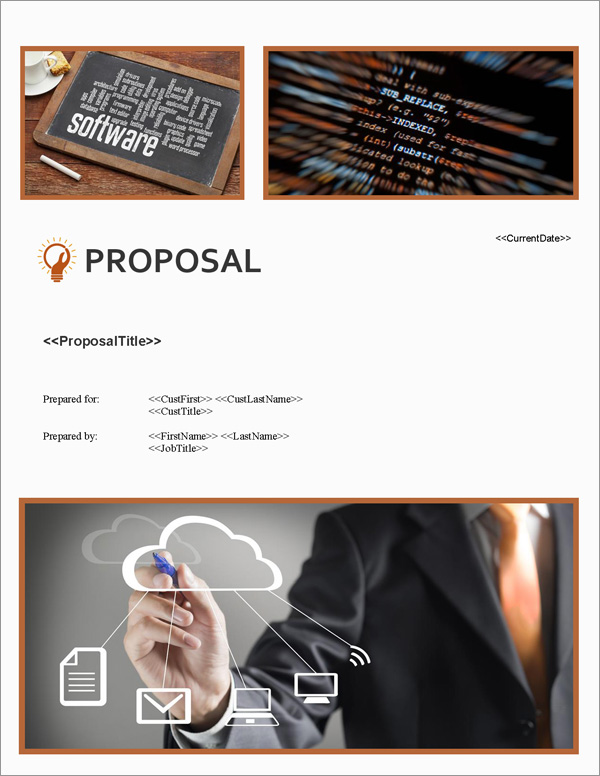 Proposal Pack Software #2 Title Page