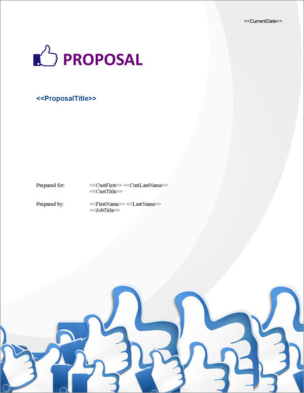Proposal Pack Social Media #1 Title Page