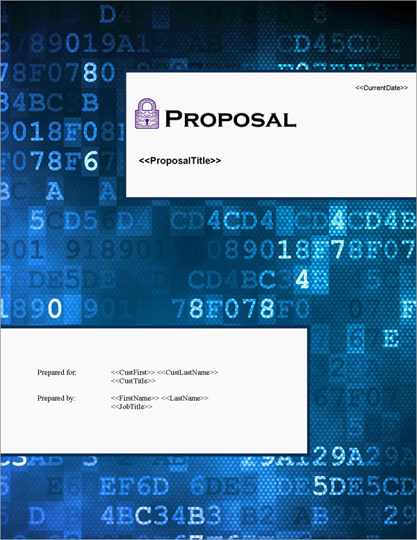 Proposal Pack Security #10 Title Page