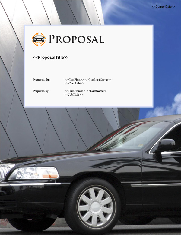 Proposal Pack Transportation #6 Title Page
