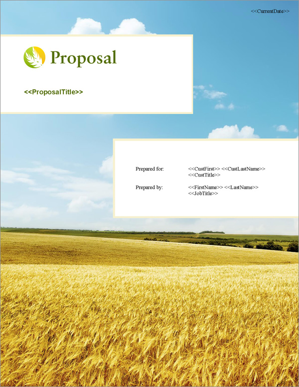 Proposal Pack Agriculture #4 Title Page
