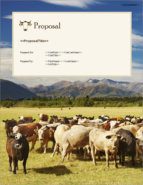Proposal Pack Ranching #1 Title Page