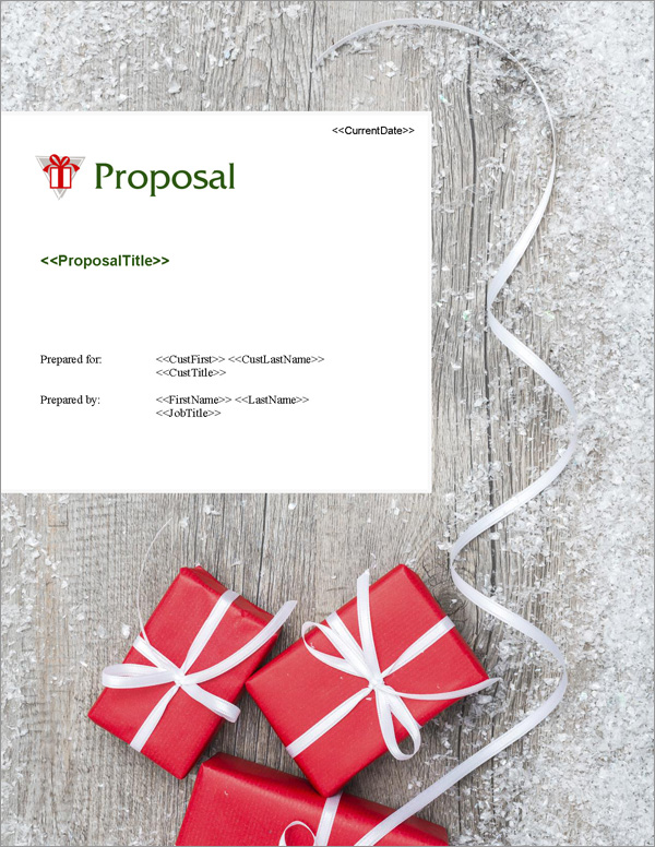 Proposal Pack Seasonal #3 Title Page