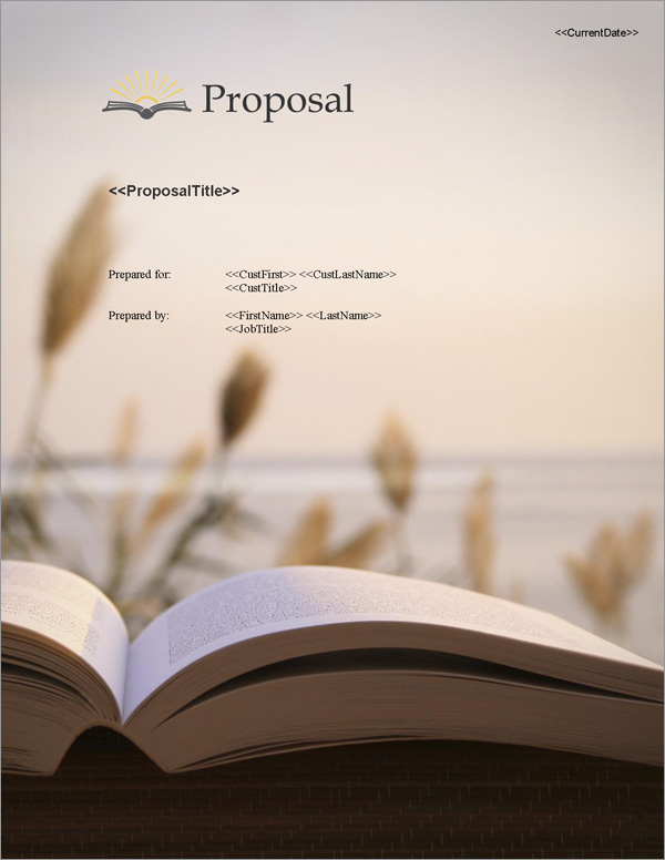 Proposal Pack Books #3 Title Page