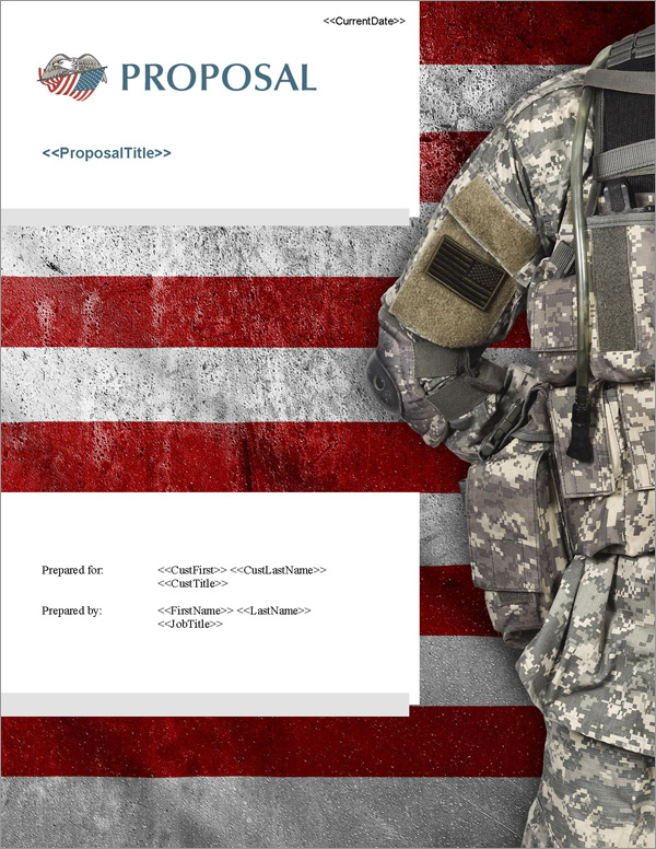 Proposal Pack Military #5 Title Page