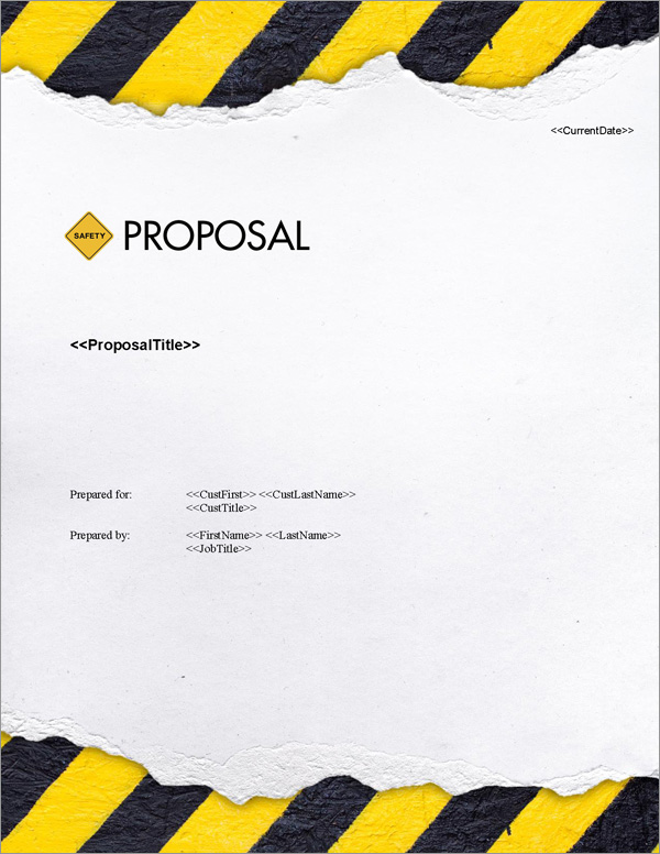 Proposal Pack Safety #4 Title Page