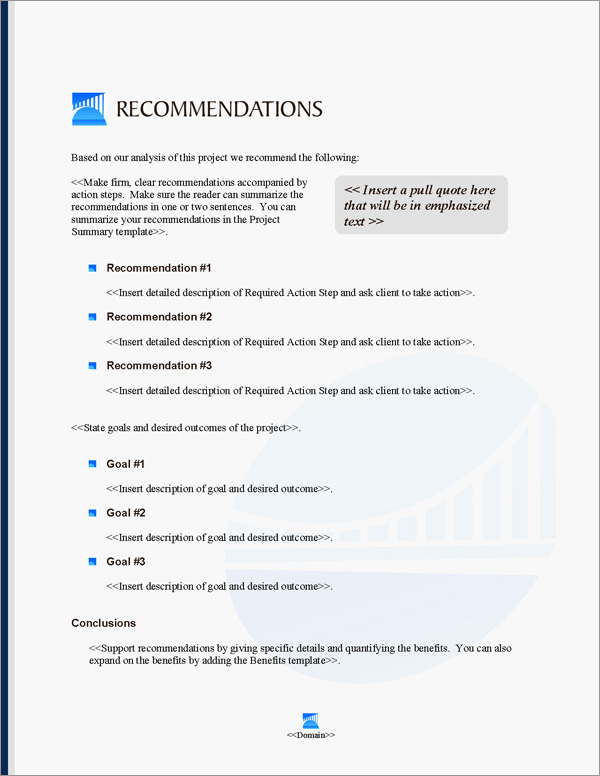 Proposal Pack Infrastructure #3 Recommendations Page