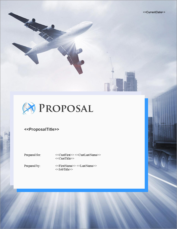 Proposal Pack Transportation #8 Title Page