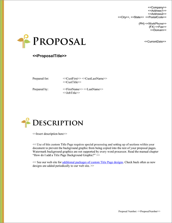 Proposal Pack Minimalist #2 Title Page
