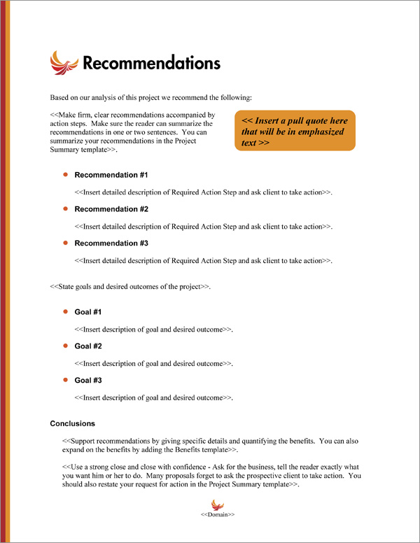 Proposal Pack Minimalist #3 Recommendations Page