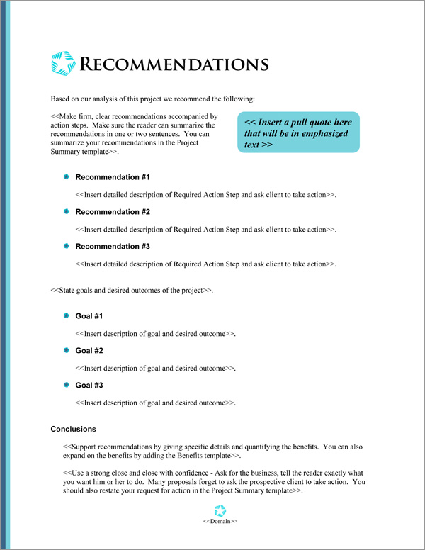 Proposal Pack Minimalist #4 Recommendations Page