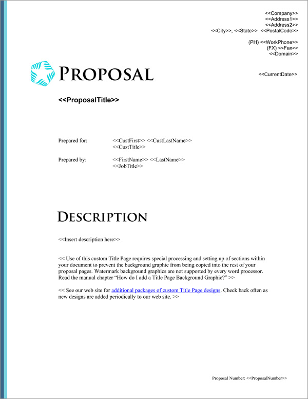 Proposal Pack Minimalist #4 Title Page