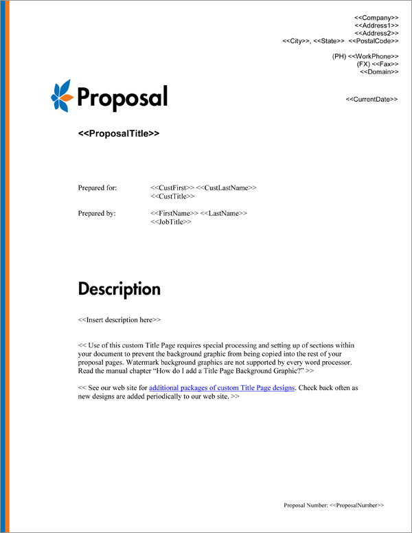Proposal Pack Minimalist #6 Title Page