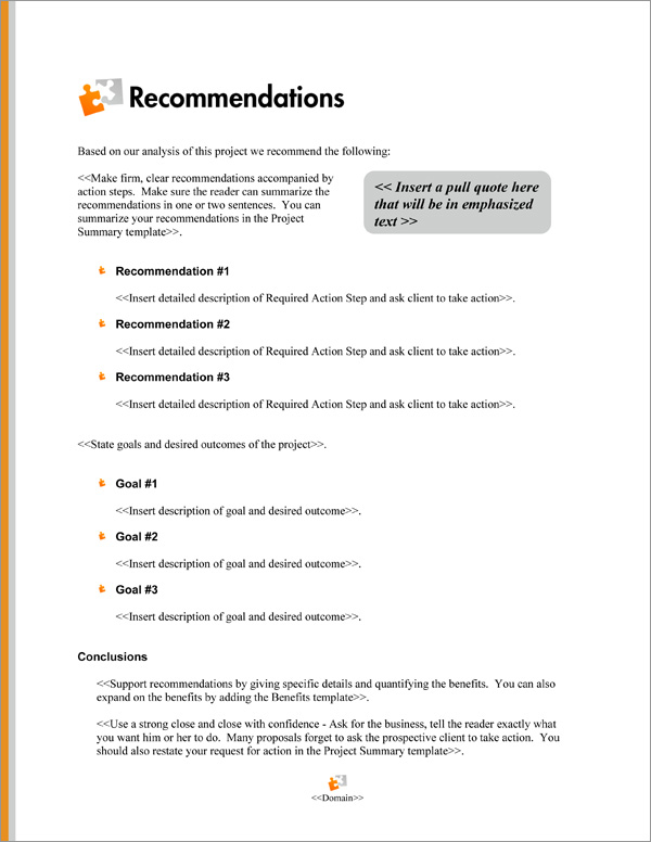Proposal Pack Minimalist #7 Recommendations Page