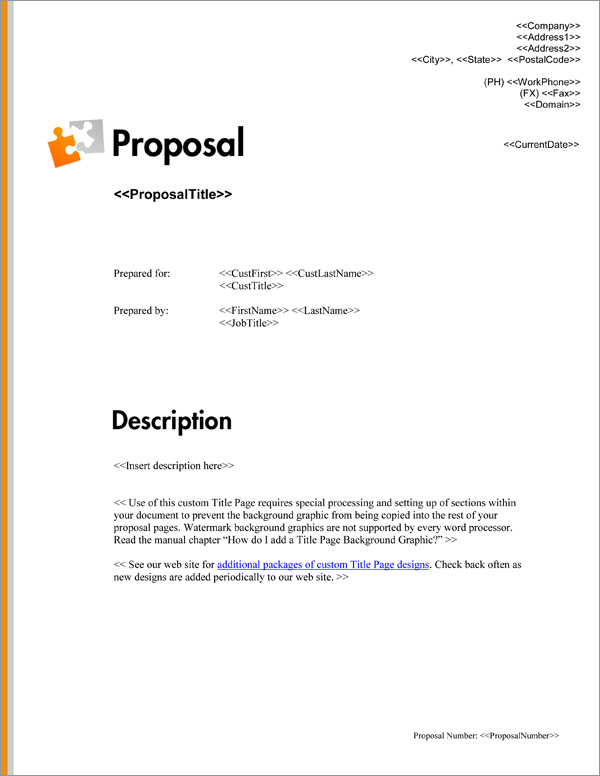 Proposal Pack Minimalist #7 Title Page