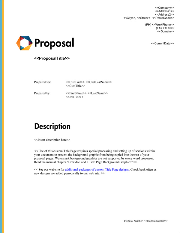 Proposal Pack Minimalist #8 Title Page